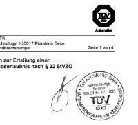 TÜV Gutachten offene Ansaugstutzen